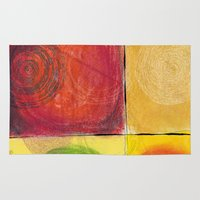 kandinsky Area & Throw Rugs featuring Colourful pastel work kandinsky inspired by Easyposters