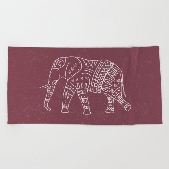 Yoga Elephant 2 Beach Towel
