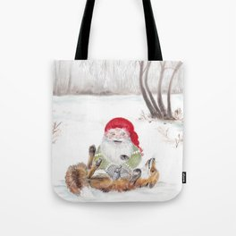 The gnome and his friend the fox - Christmas Tote Bag
