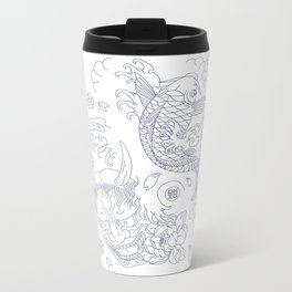 Japanese Tattoo Metal Travel Mug