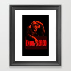 Endangered Chimpanzee Framed Art Print