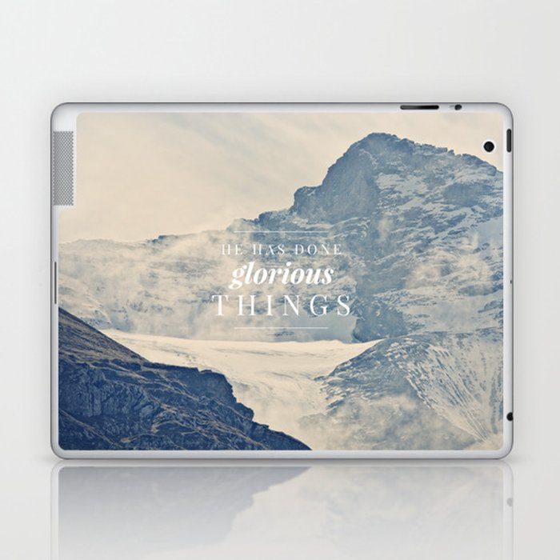He Has Done Glorious Things - Isaiah 12:5 Laptop & iPad Skin