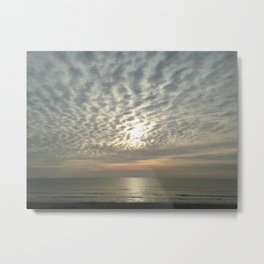 Cloudy sun Metal Print