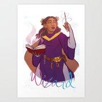 wizard Art Prints featuring Wizard by Regina Legaspi