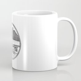 Grand Teton National Park Illustration Coffee Mug