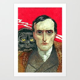 Cat man Art Print