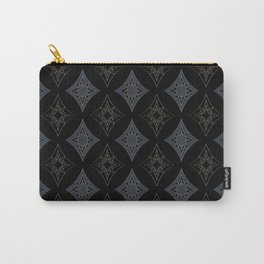 Black Art Deco Carry-All Pouch