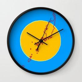 Palau Flag with Palauan Map Wall Clock