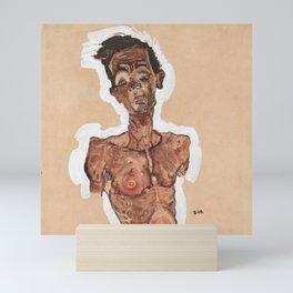 """Egon Schiele """"Nude Self-Portrait"""" Mini Art Print"""