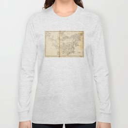 Map of China Chinese-Tartary & Tibet (1834) Long Sleeve T-shirt