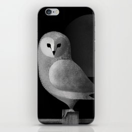 Barn Owl Full Moon iPhone Skin