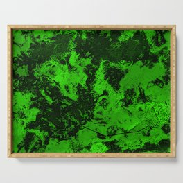 Galaxy in Green Serving Tray