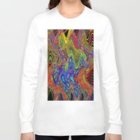 psychedelic Long Sleeve T-shirts featuring Psychedelic by Frankie Cat