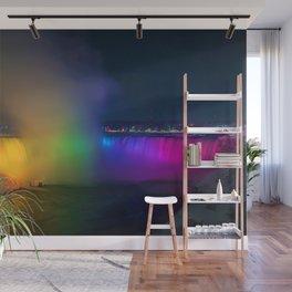 Rainbow Niagara Falls Waterfall (Color) Wall Mural