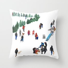 The Fork's River Trail Throw Pillow