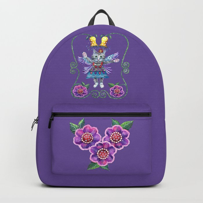 Angel Kitty (Purple) Backpack