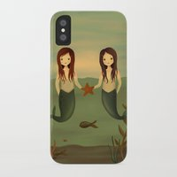 pisces iPhone & iPod Cases featuring Pisces by The Midnight Rabbit