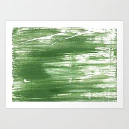 Fern green abstract watercolor Art Print
