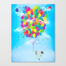 Neon Flight Canvas Print