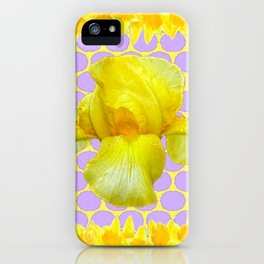 ABSTRACT YELLOW SPRING IRIS GOLDEN DAFFODILS FRAME iPhone Case