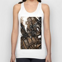 cityscape Tank Tops featuring Cityscape by David Miley