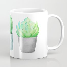 Succulent and Cacti Potted Garden Trio Coffee Mug