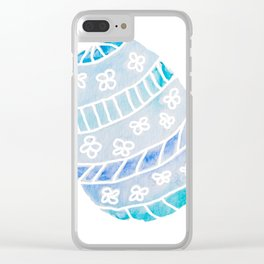 Easter Egg in Blue and Teal Clear iPhone Case
