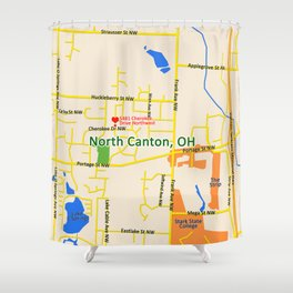 Map of North Canton, OH Shower Curtain