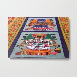 Guatemalan Alfombras Metal Print