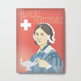 Florence Nightingale Portrait Metal Print