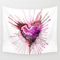 valentine Wall Tapestries featuring Valentine by CSNSArt