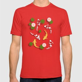 Japanese Koi Fish Pond T-shirt