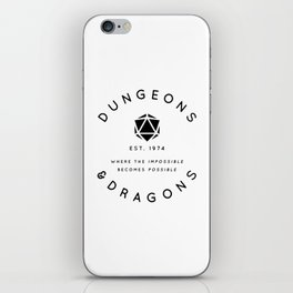 DUNGEONS & DRAGONS - WHERE THE IMPOSSIBLE BECOMES POSSIBLE iPhone Skin