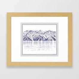 TURNAGAIN ARM AND THE CHUGACH RANGE ON THE COOK INLET ALASKA Framed Art Print