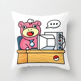 Monday Mood Office Throw Pillow