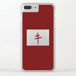Chinese zodiac sign Ox red Clear iPhone Case