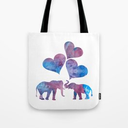 Elephants art Tote Bag