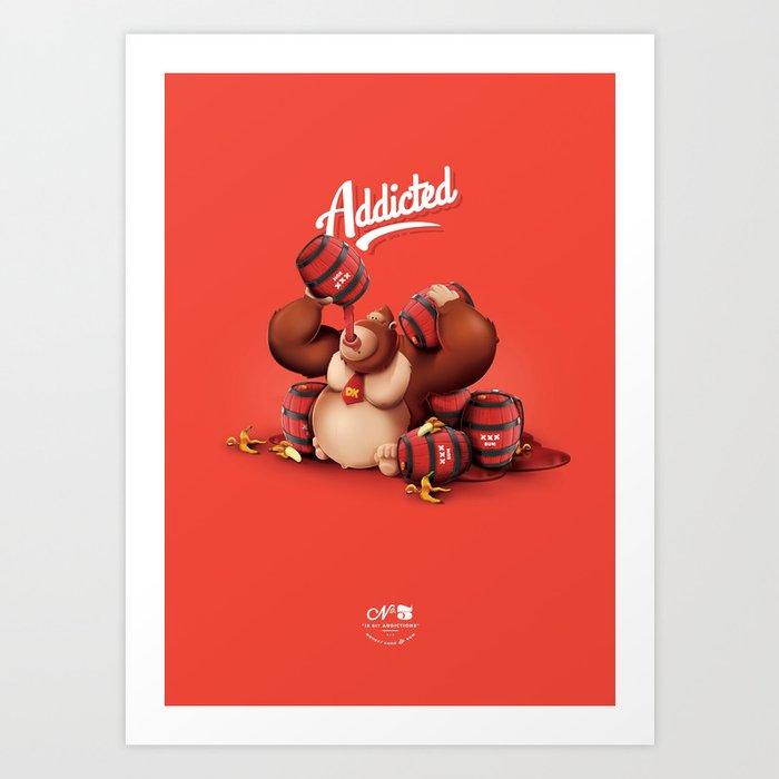 16 Bit Addiction Art Print