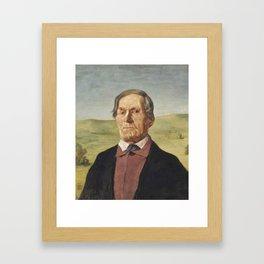 Hans Thoma,  Onkel Ludwig Maier, 1898 Framed Art Print