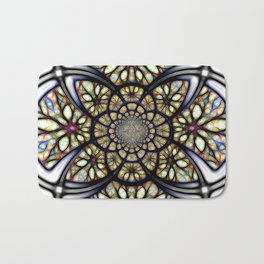 The Art Of Stain Glass Bath Mat