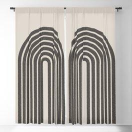Rainbow Art, Geometric Mid Century, Blackout Curtain
