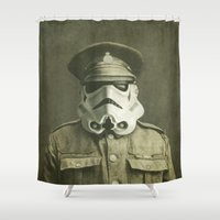film Shower Curtains featuring Sgt. Stormley  by Terry Fan