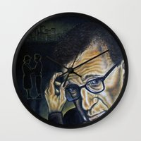 "woody Wall Clocks featuring ""Woody"" by PMS Artwork"