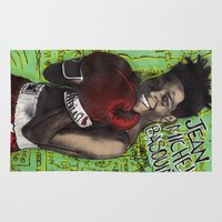 basquiat Area & Throw Rugs featuring Jean-Michel Basquiat by Ibbanez