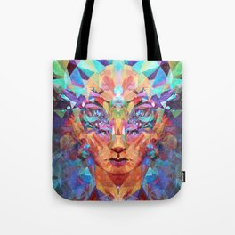 Betrothal of Bastet (Crystal Lioness Goddess) Tote Bag