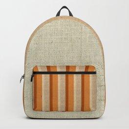 """Orange, Grey & Beige Deco Lines"" Backpack"