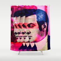 drunk Shower Curtains featuring Drunk by Cs025
