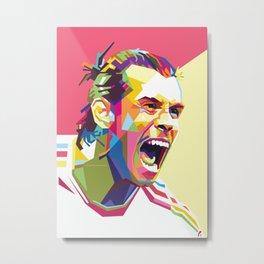 Gareth Bale WPAP #4 Metal Print