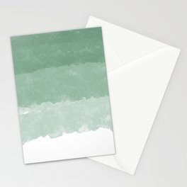 Modern lucite green abstract watercolor ombre pattern Stationery Cards
