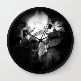Mixed color Poinsettias 3 Dark Wall Clock
